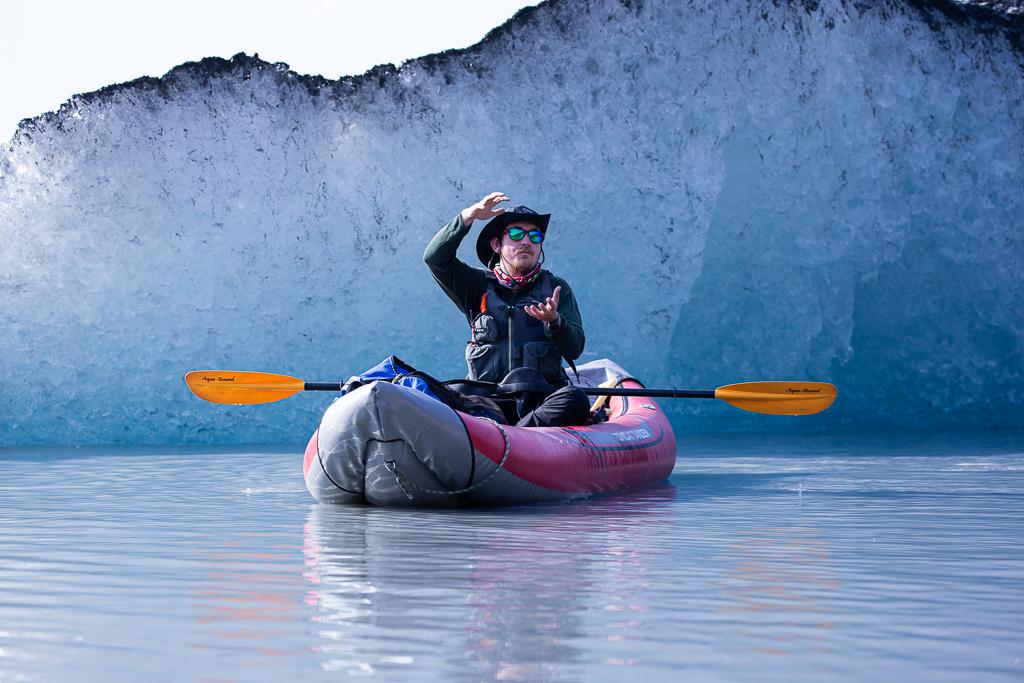 guide on Anadyr Adventures kayak tours in Valdez Glacier Alaska