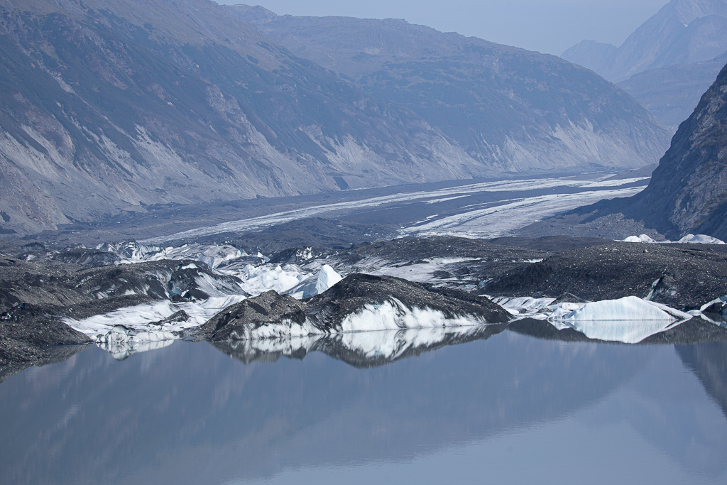 valdez glacier seen from hike on anadyr adventures kayak tour