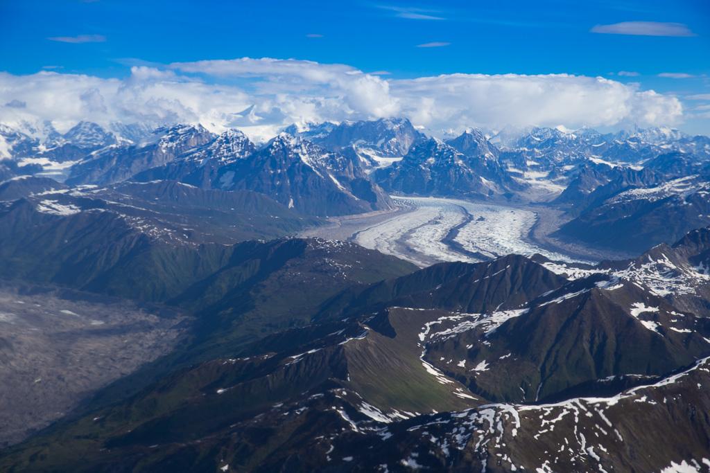 10 Days Alaska Itinerary - Denali glacier from above
