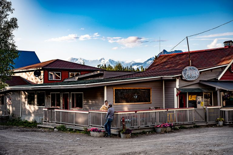hearts gone south band in front of golden saloon mccarthy alaska
