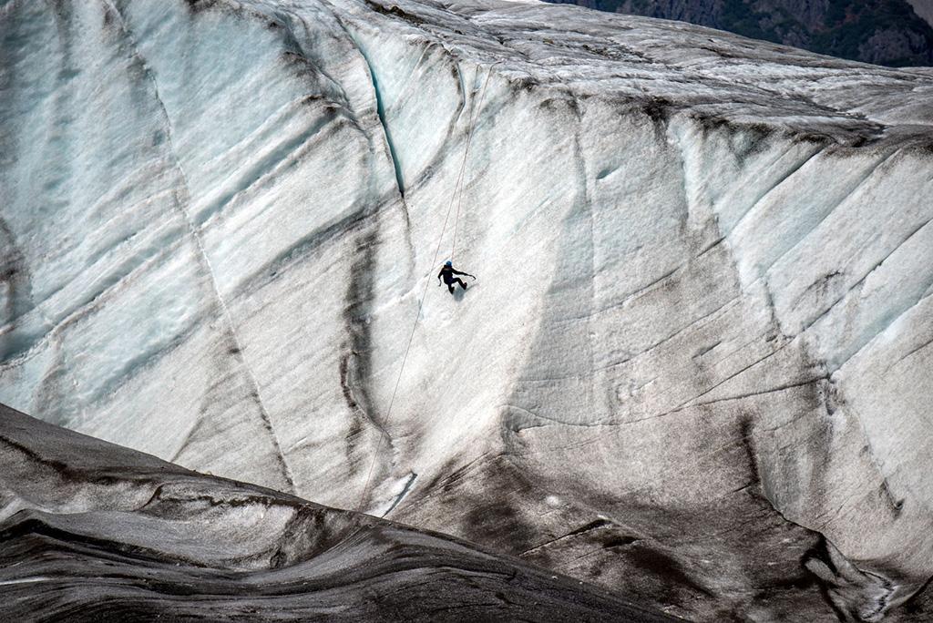 ice climber kennicott root glacier alaska