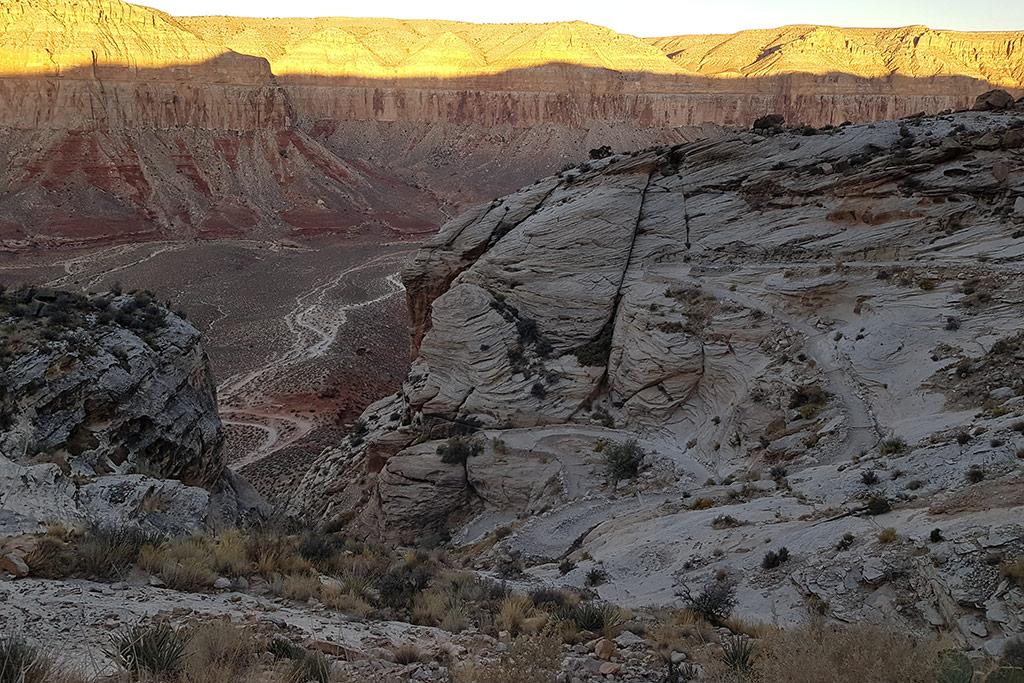 havasu falls hike from the hilltop