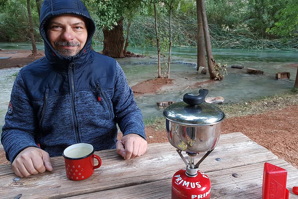Havasu Falls camping and backpacking travel stove