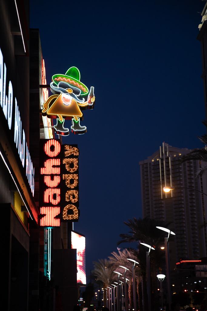 las vegas neons at night photo shooting locations