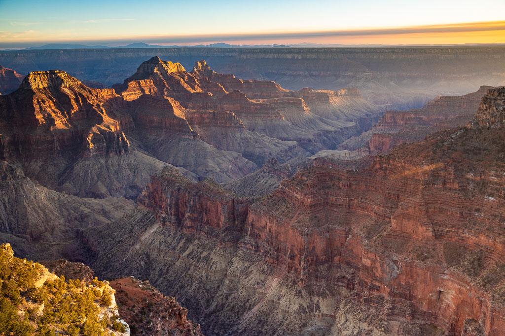 Grand Canyon North Rim at sunset