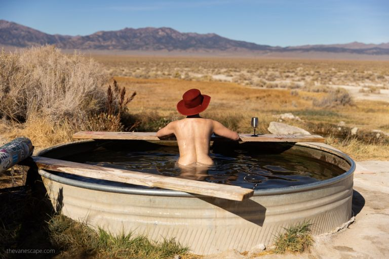 relax in spencer hot springs nevada clothing is optional
