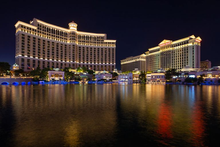 bellagio and ceasars palace hotels las vegas