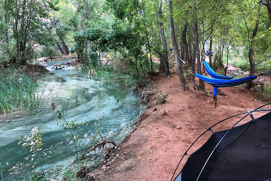 hammocks in havasu falls campground