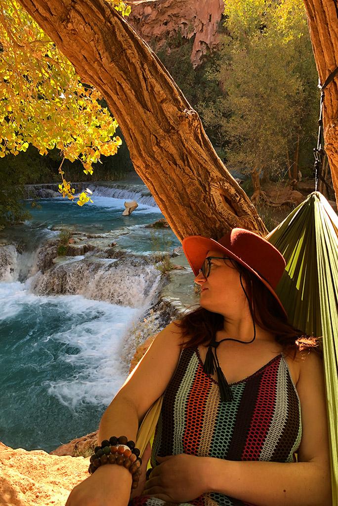 Havasu Falls hammock relax