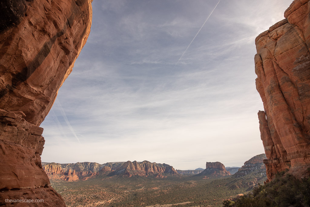 View from the Cathedral Rock trail end, Sedona
