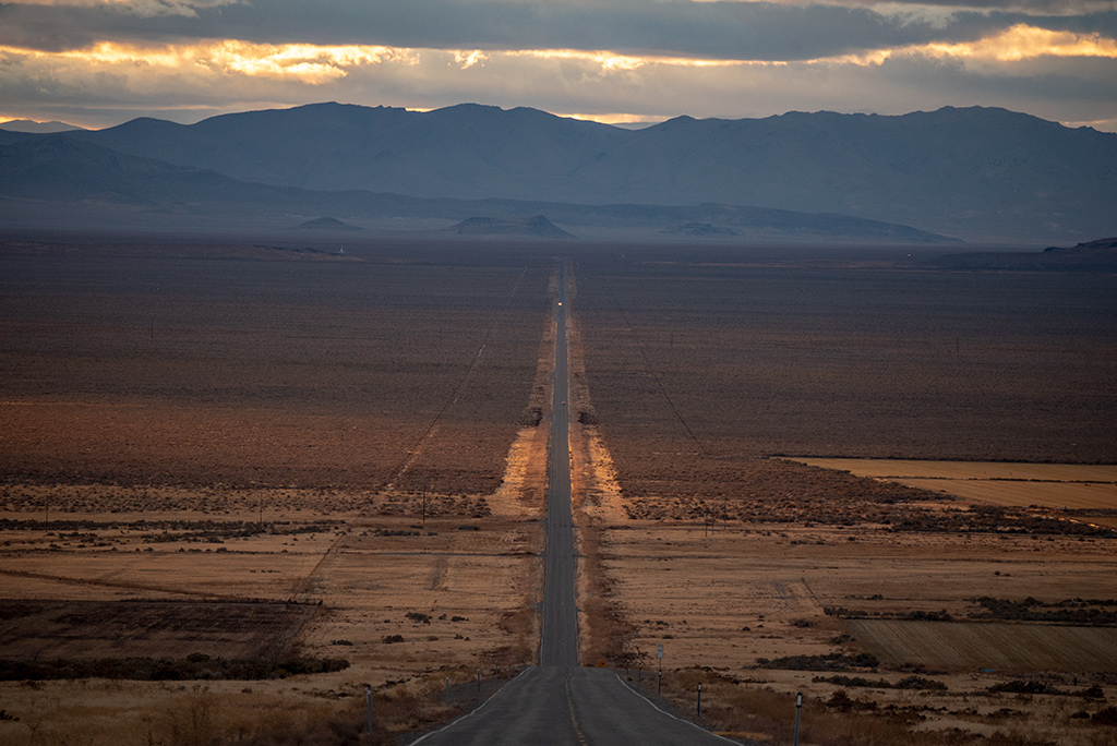 the lonely road in nevada
