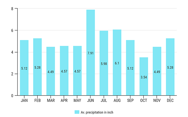 new orleans average precipitation