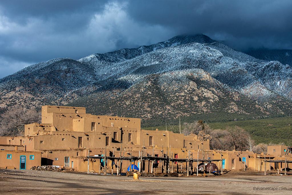 Taos Pueblo view