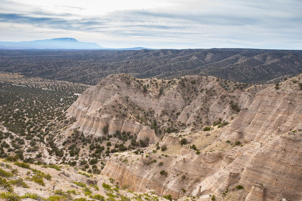 view from Tent Rocks