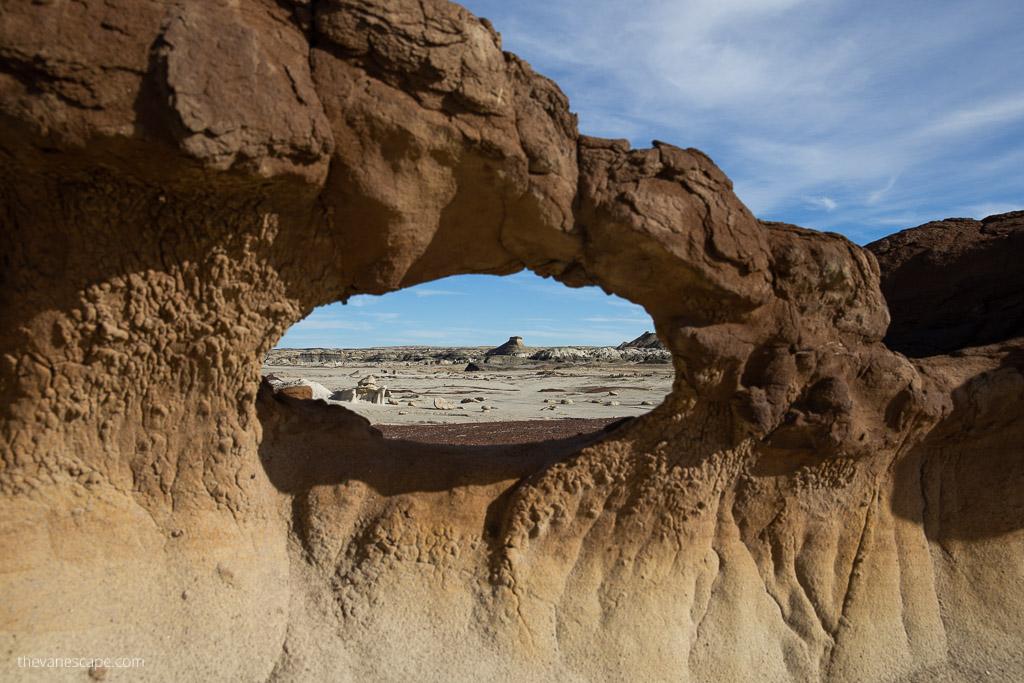 Bisti Arch in Bisti Badlands