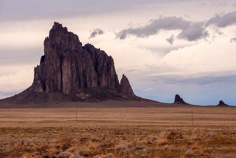 Visiting Shiprock in New Mexico