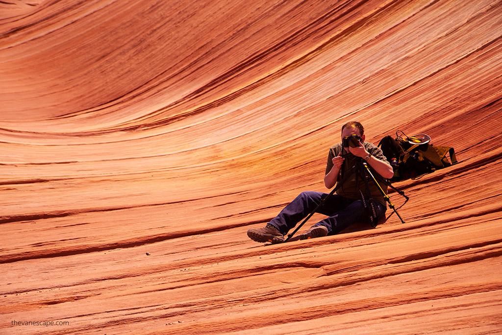 photographing the Wave Arizona