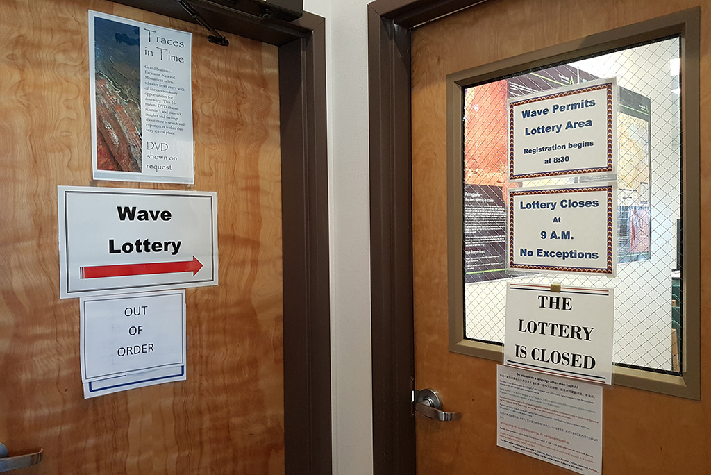 the Wave lottery in Kanab