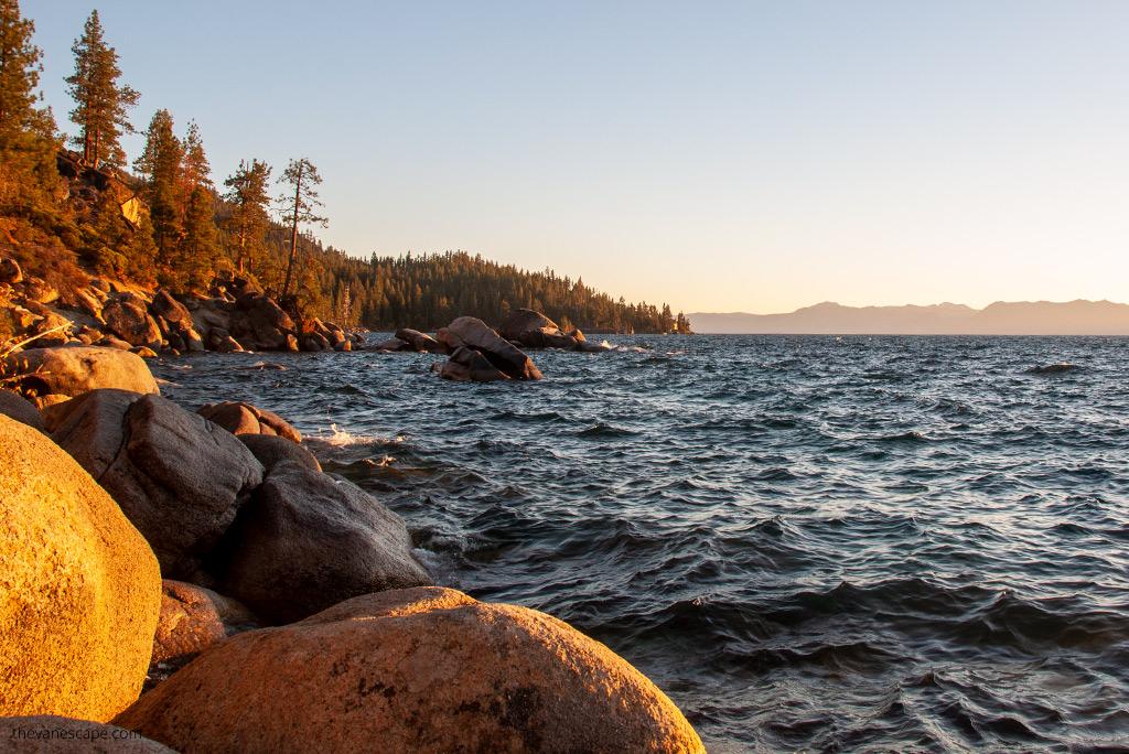 Lake Tahoe Attractions - hike to bonsai rock