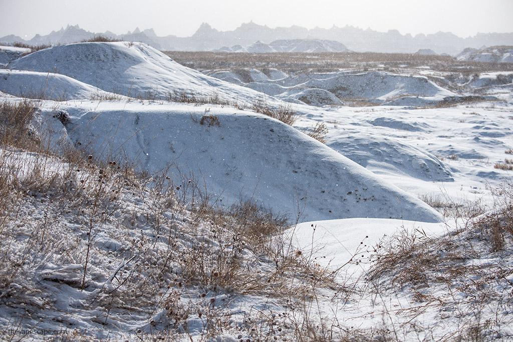 Badlands National Park in Winter
