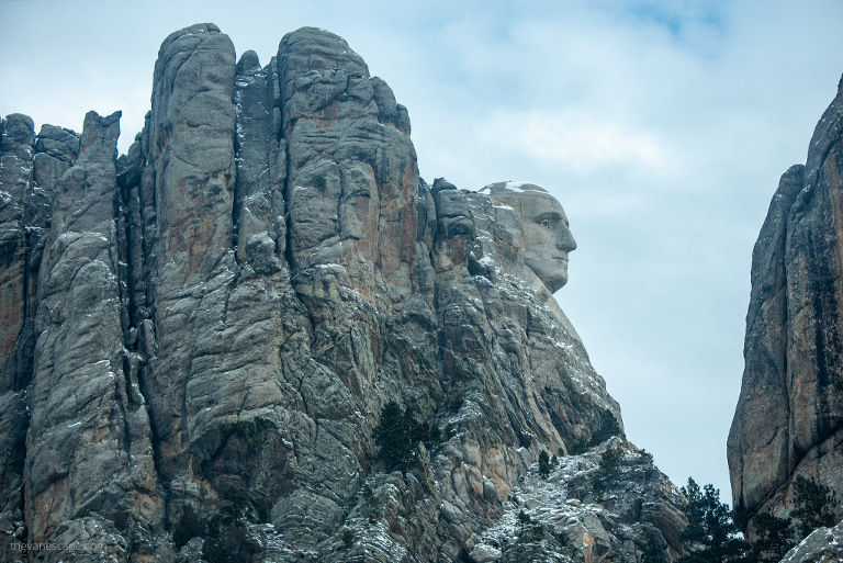 visiting Mount Rushmore